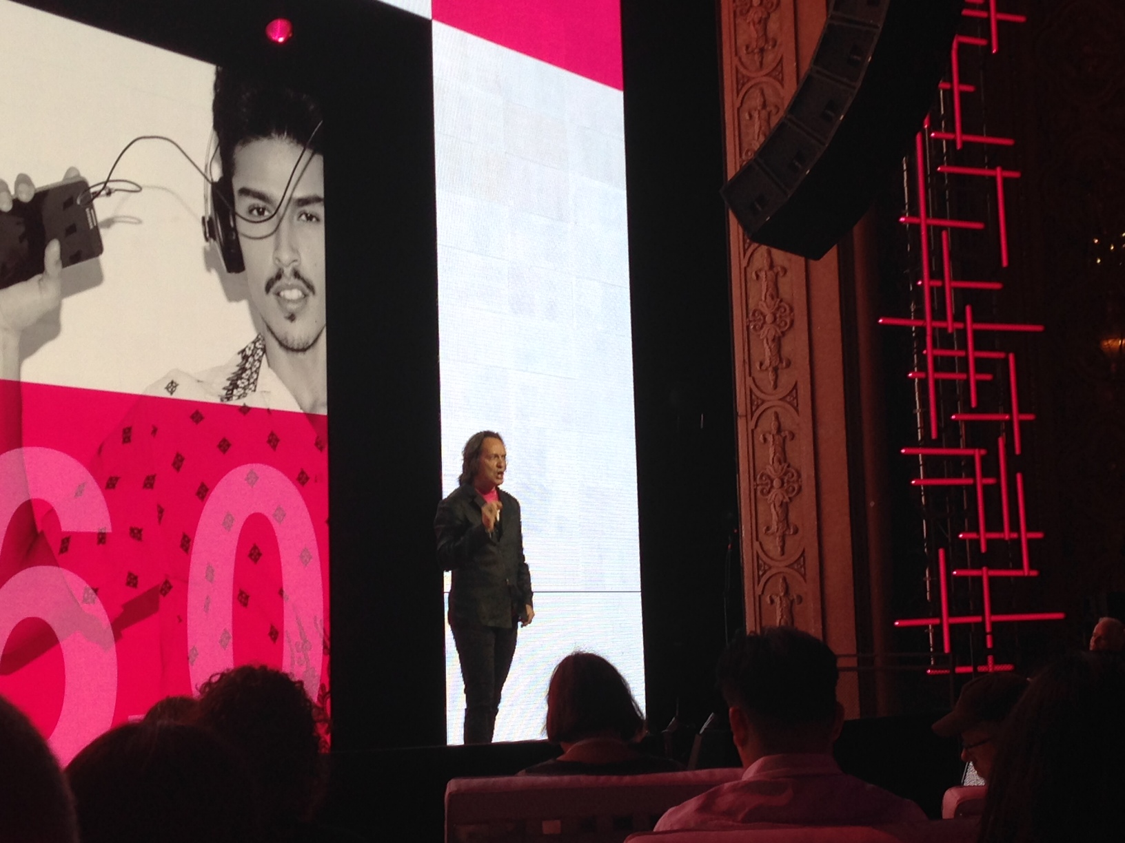 Legere at Uncarrier 5.0 (Source: Kevin Fitchard / Gigaom)