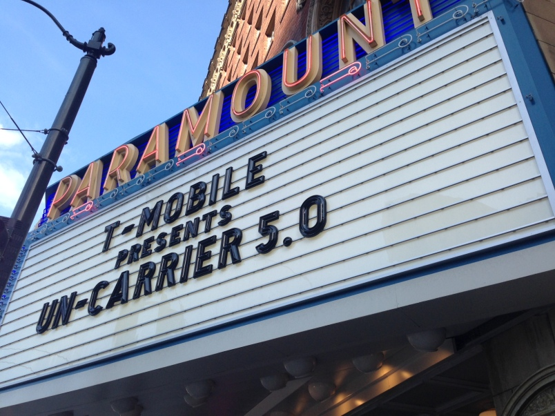 The Paramount Theater in Seattle played host to T-Mobile's Uncarrier 5.0 event in June.