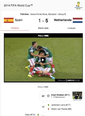 Google World Cup Card