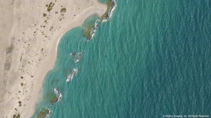 An image of the Somalia coast taken by SkySat-1