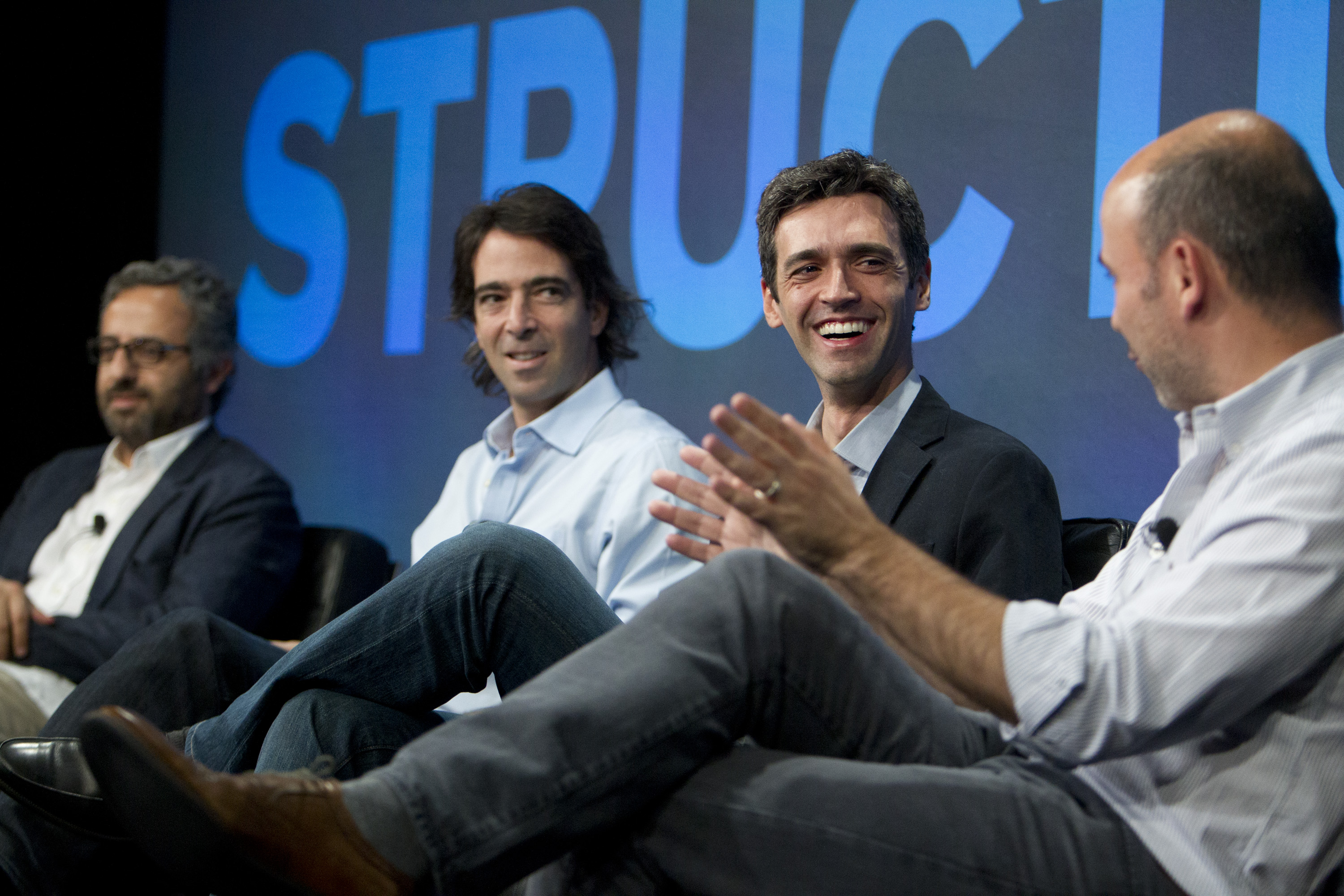 From L to R, Rabih Nassar, CEO of Apstrata; Germany Dyzenchauz, CEO of GoIntegro; Antonio Carlos Soares, CEO if Runrun.it