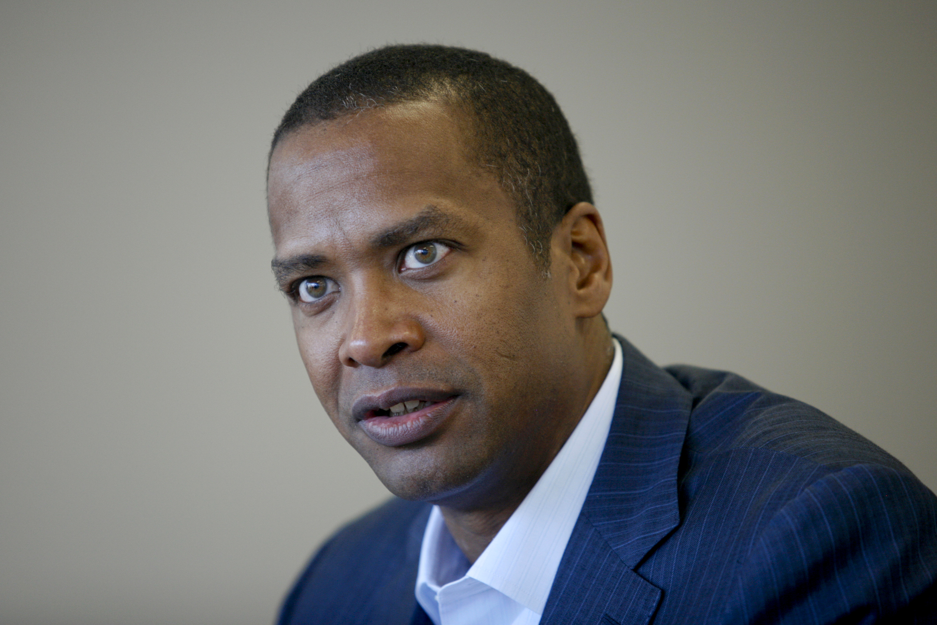 David Drummond, senior vice president for corporate development and chief legal officer at Google Inc., at the company's headquarters in Mountain View, California on March 11, 2011.  AFP PHOTO/Ryan Anson