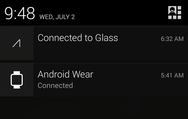 Glass and Android Wear on Android