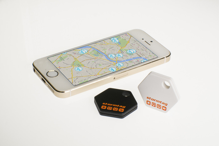 StormTag's sensor fob links to an iOS or Android phone via Bluetooth (source: StormTag)