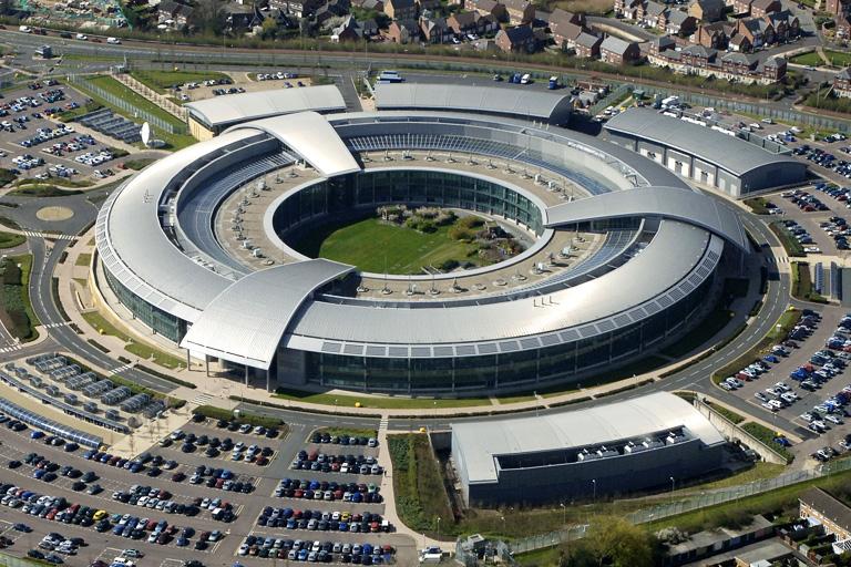 """GCHQ """"doughnut"""" building in Cheltenham, UK"""