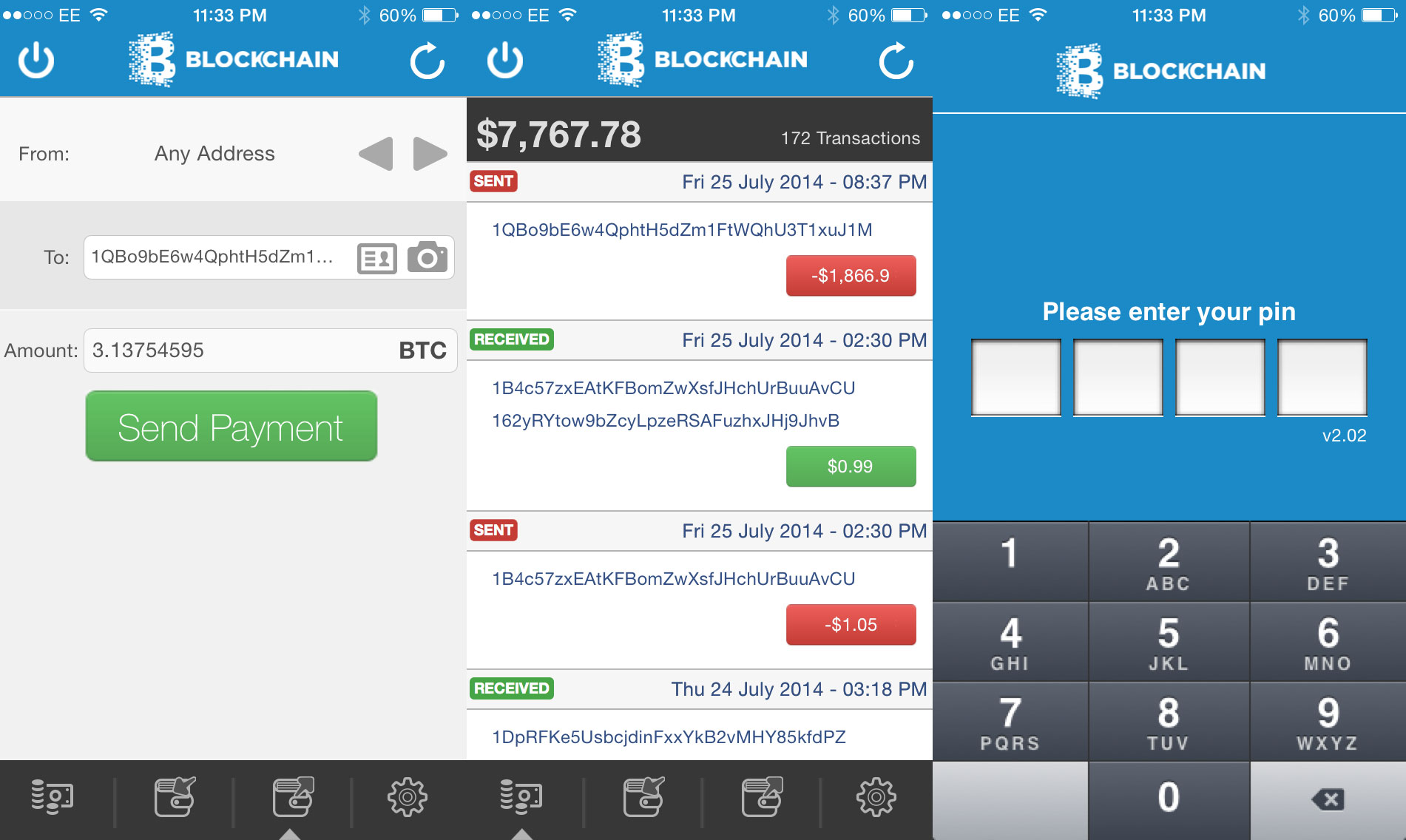 blockchain-wallet-screenshots