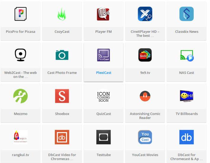 chromecast apps