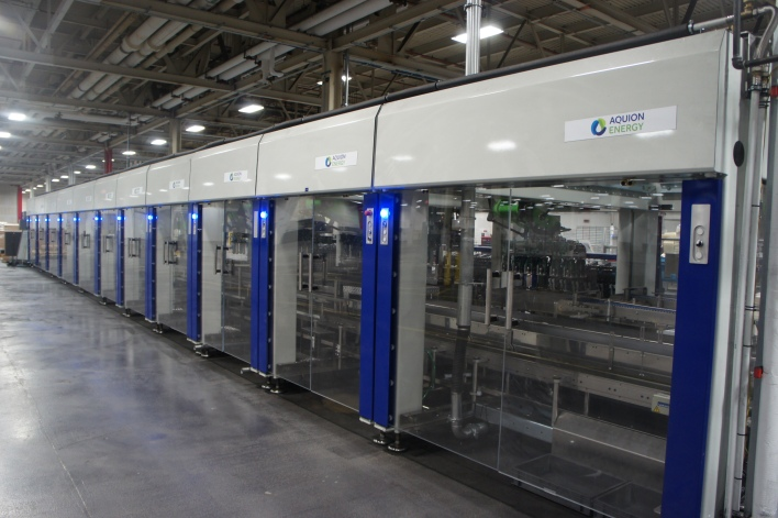 Machines that pick and place the electrodes into the battery units. Image courtesy of Katie Fehrenbacher, Gigaom.