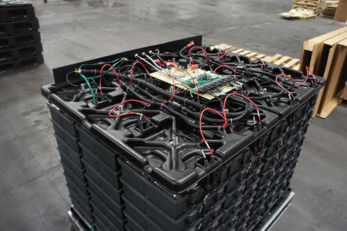 Computing units for Aquion Energy battery modules. Image courtesy of Katie Fehrenbacher, Gigaom.