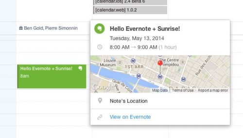 evernote and sunrise