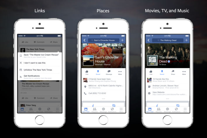 Content over companionship: Facebook shifts further from social with its new Save feature
