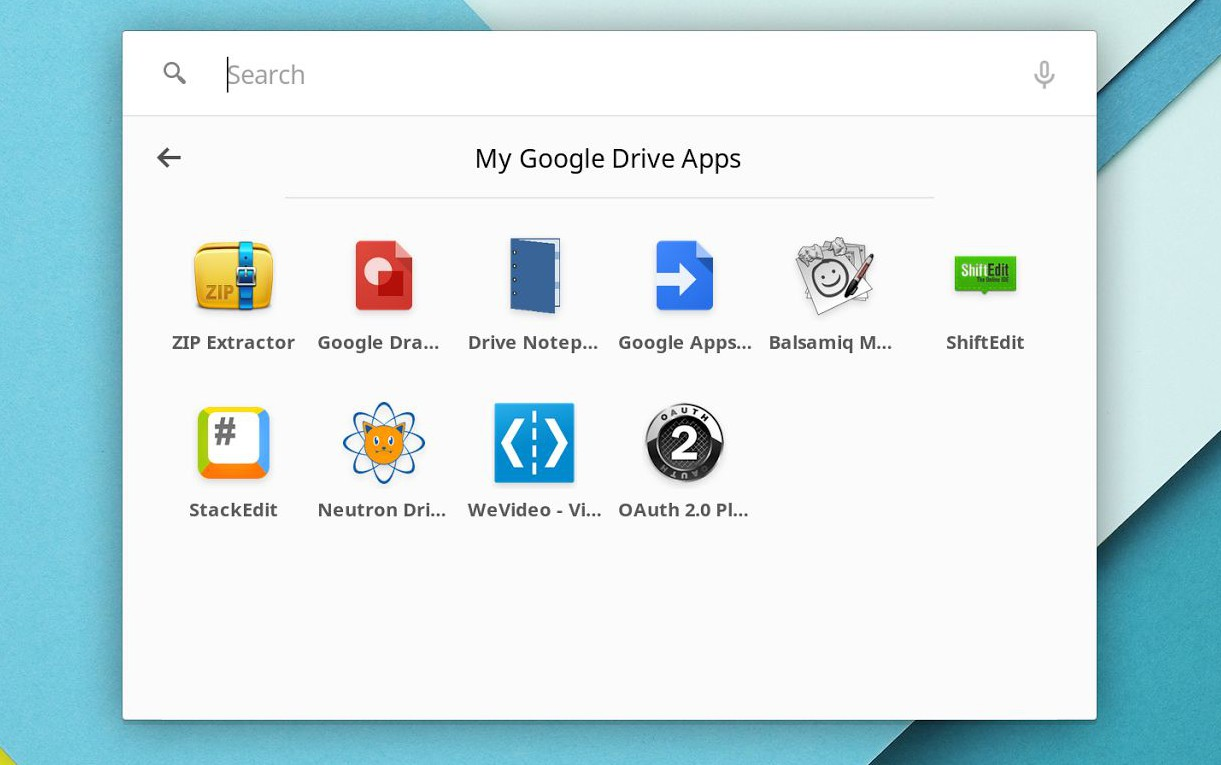 google drive apps in chrome app launcher