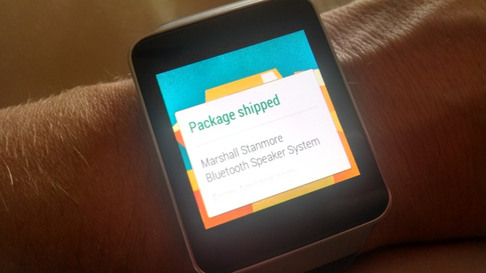 Android wear package notify
