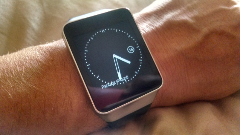 Android Wear time dim