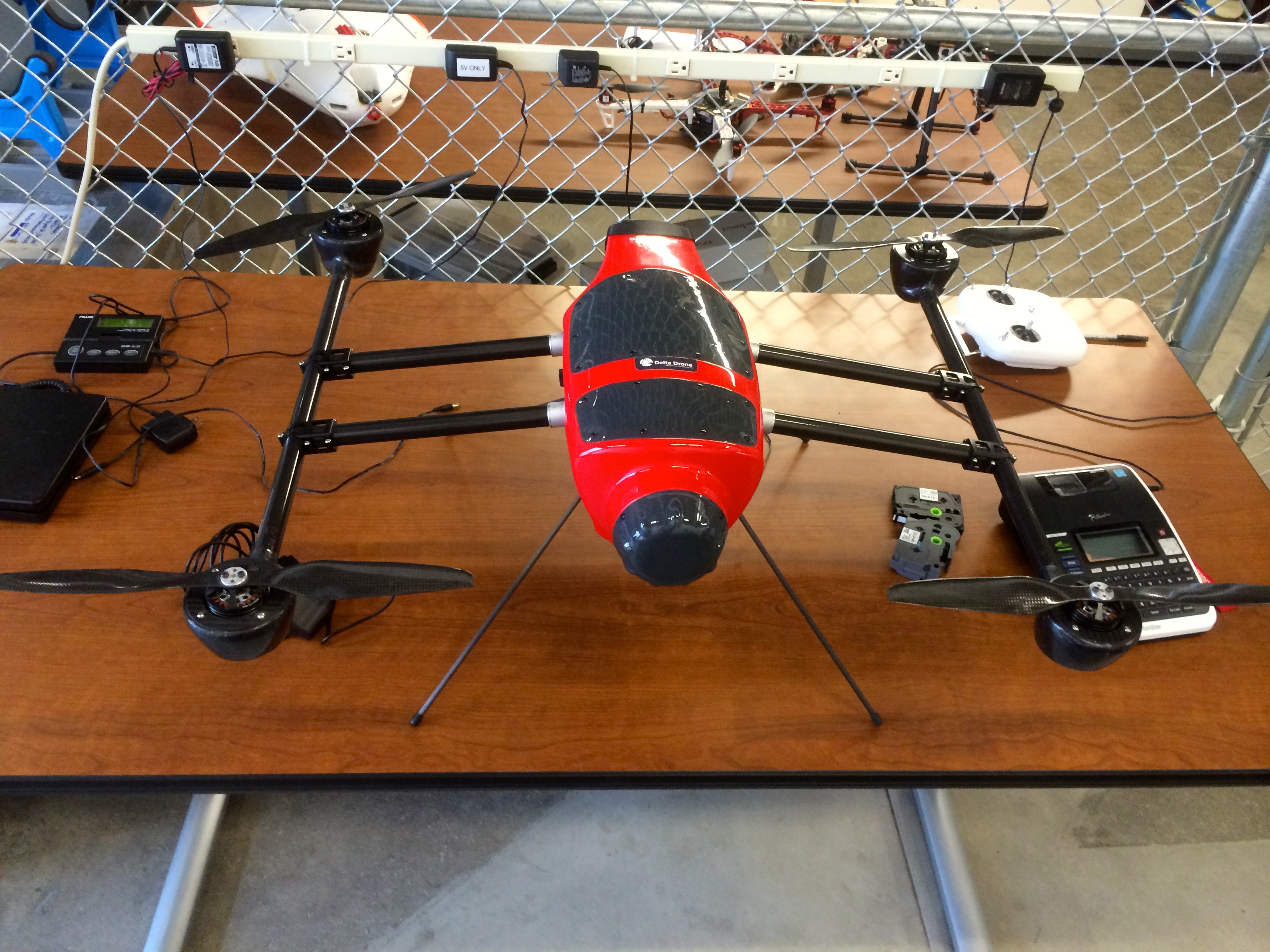 A Delta Drone UAV equipped with Airware's hardware. Photo by Signe Brewster.