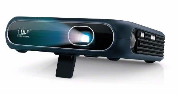 ZTE Projector on stand left angle