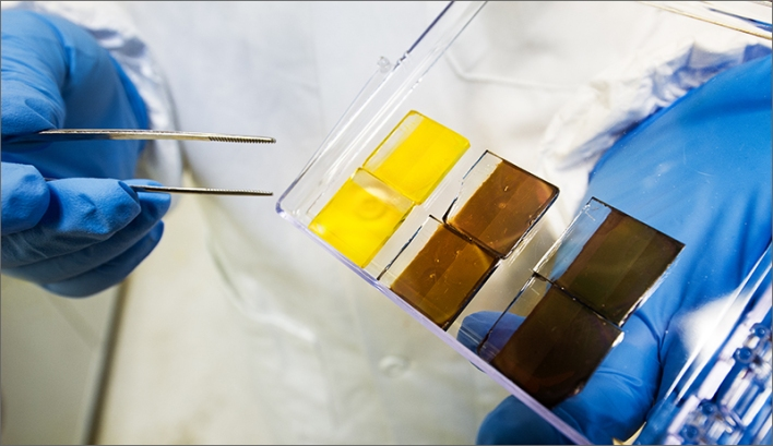 Perovskite films, courtesy of NREL.