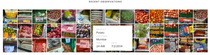 A collection of recent data on food prices from Premise Data.
