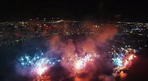 Drone fireworks