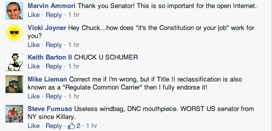 Schumer FB screenshot