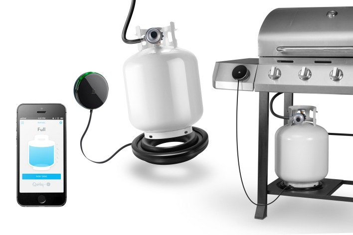 The Refuel $49.99 connected propane tank monitor may be useful for BBQ season.