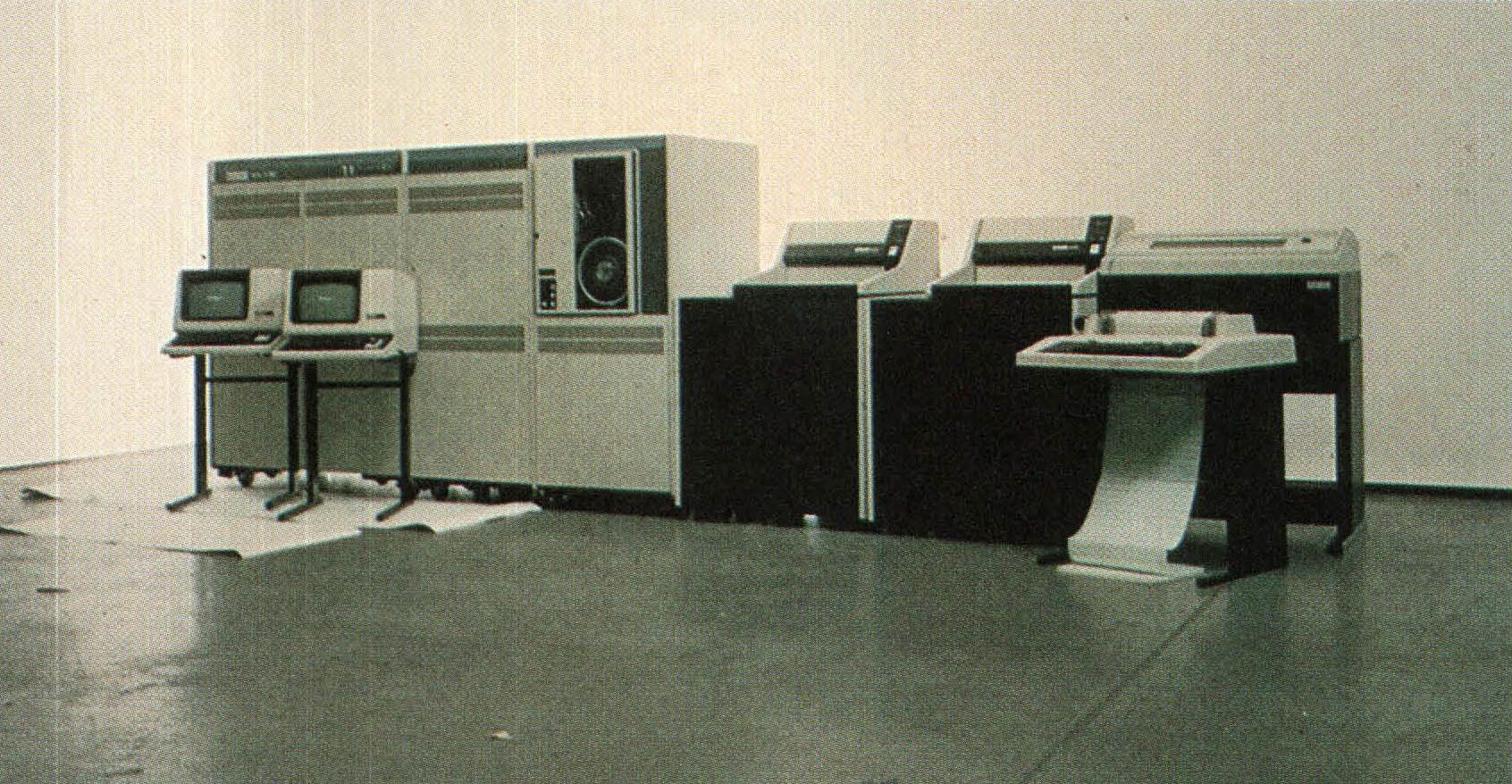 A VAX-ll/780 minicomputer from Digital. The VAX, or virtual address extension, series of 32-bit minicomputers was one of the most popular and versatile minis in the world. Photo via creative commons license from Harvard.