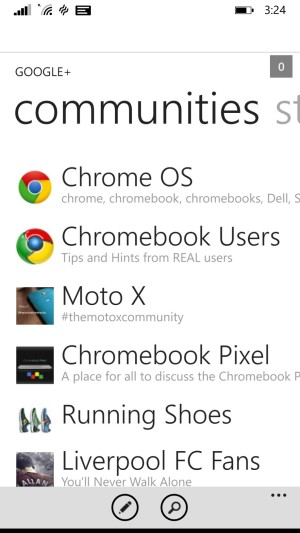 Google Plus communities on WP