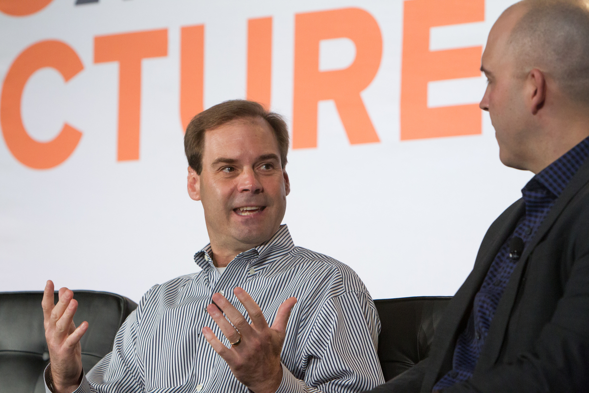 Hortonworks CEO Rob Bearden at Structure Data 2014.