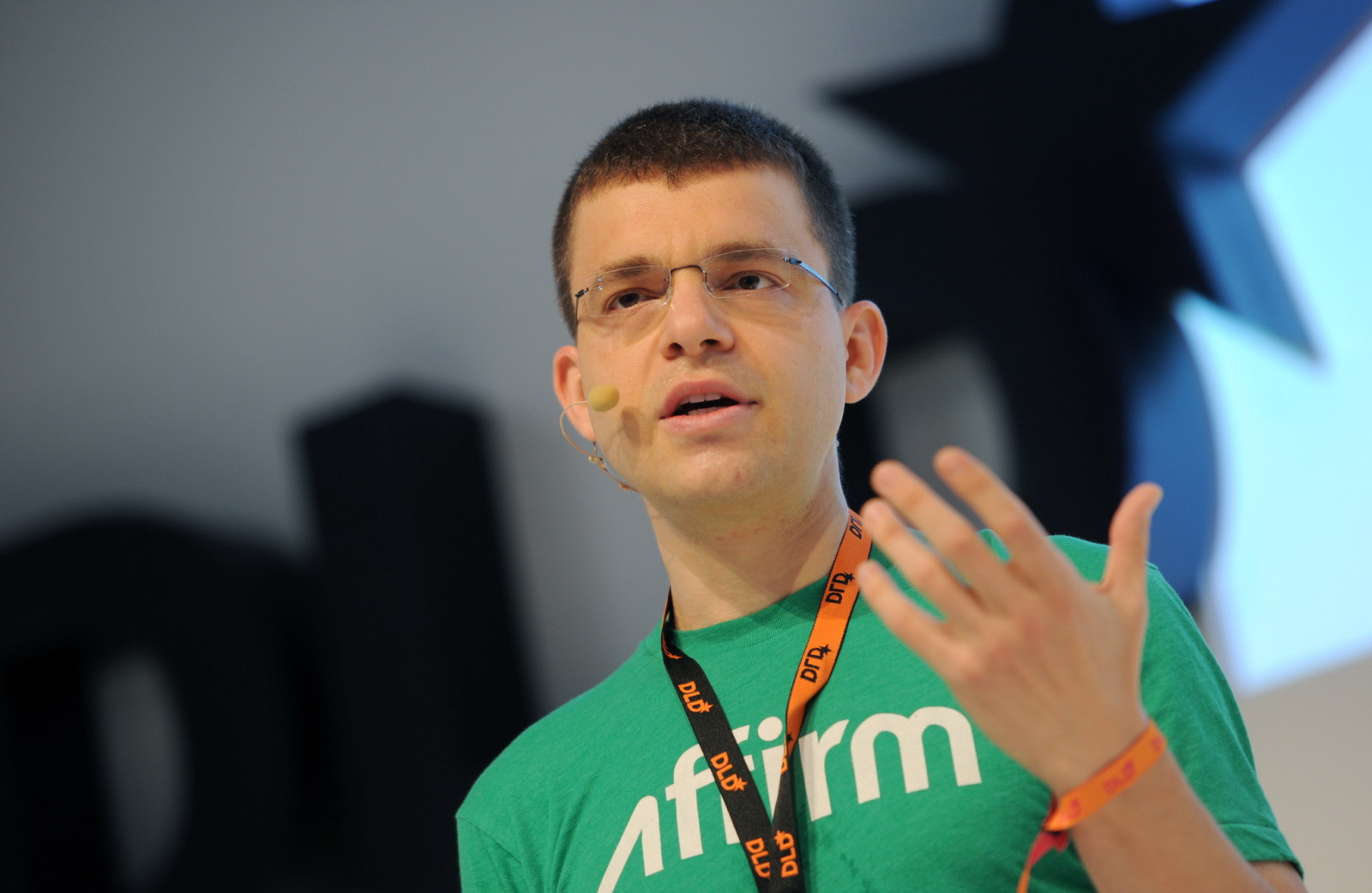 Max Levchin (HVF) speaks on the podium during the Digital Life Design (DLD) Conference at the HVB Forum on January 20, 2014 in Munich, Germany.  (Free Press Photo © Hubert Burda Media / Picture Alliance)