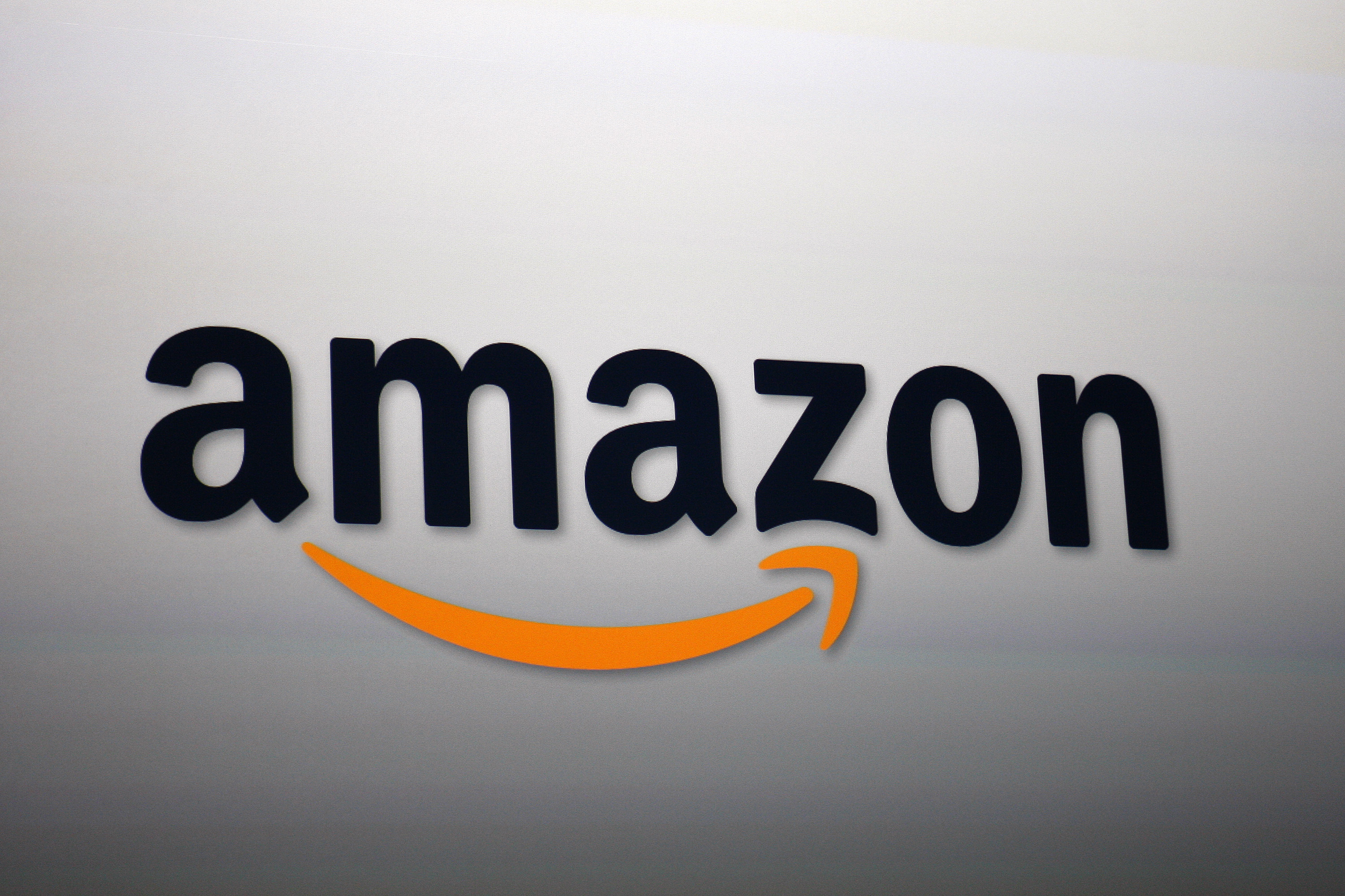 Amazon's logo. Photo by David McNew/Getty Images
