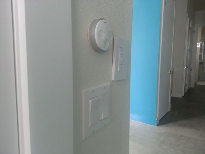 A wall of connected switches!