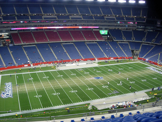 Gillette Stadium, home of the New England Patriots