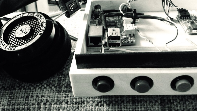 raspberry pi audiobook reader inside