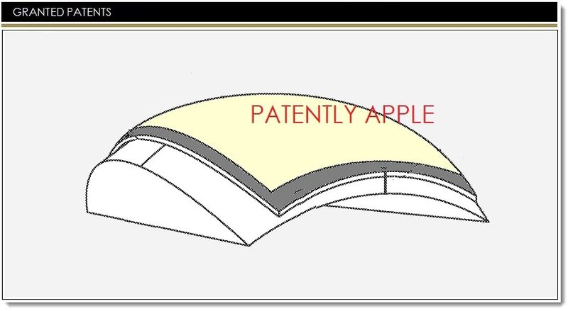 curved touch display apple patent