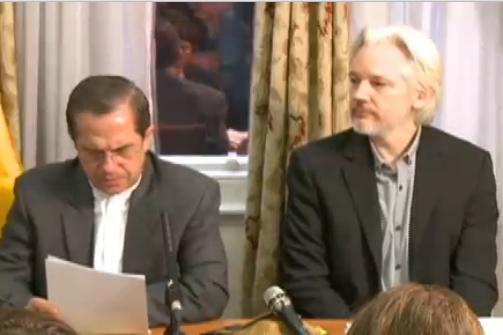 Assange press conference