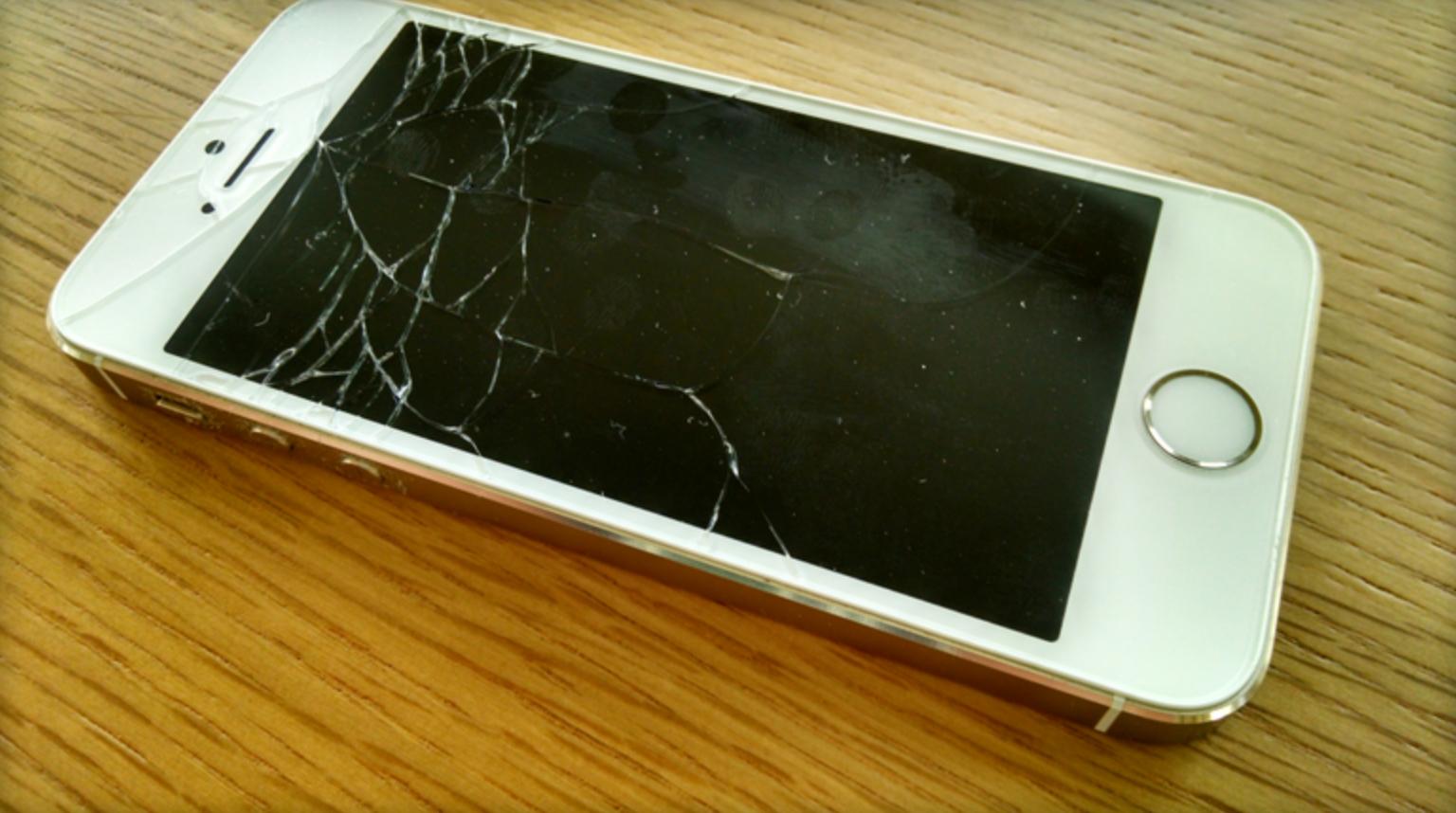 cracked iphone 5s