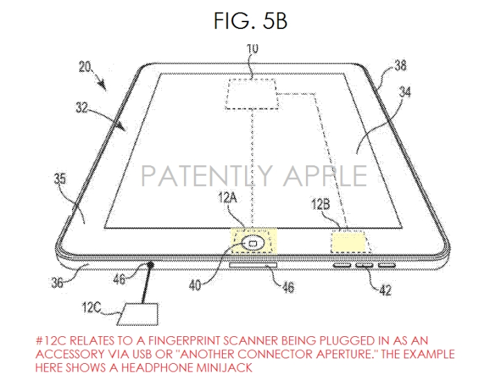 ipad touch ID patent