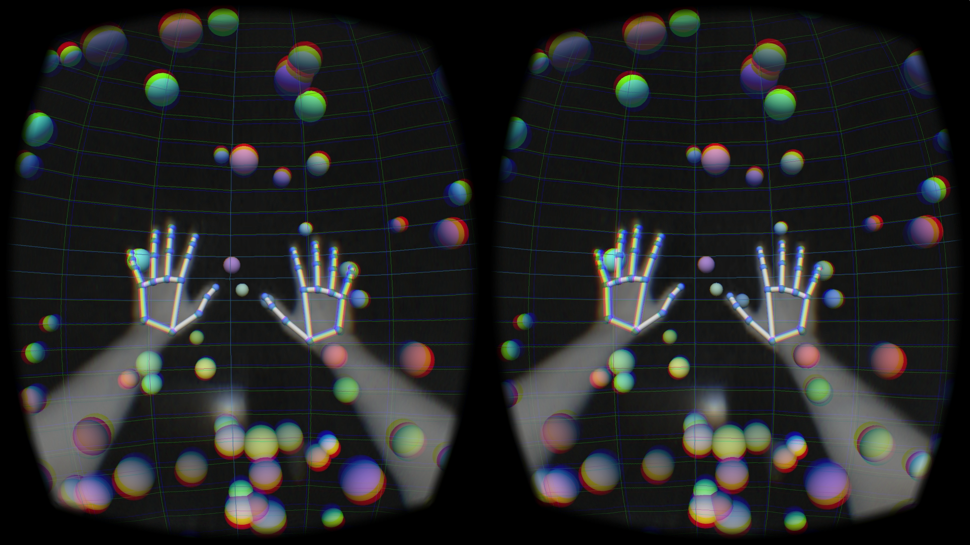 Leap Motion tracks all five fingers in virtual reality. Photo courtesy of Leap Motion.