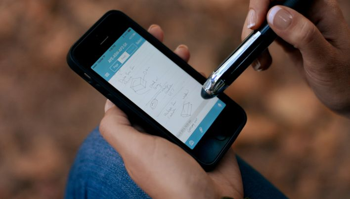 The Livescribe digital pen.