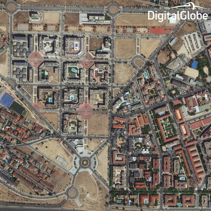 A view of Madrid. Photo courtesy of DigitalGlobe.