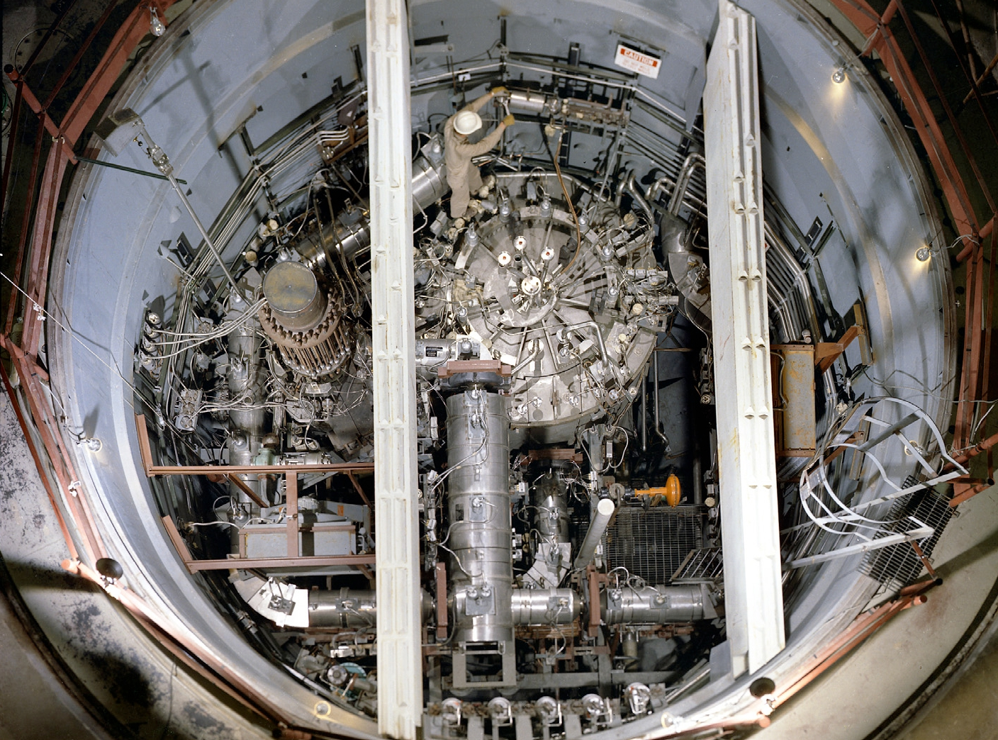 The original molten salt reactor from the Oak Ridge National Lab in the late 1960s, image courtesy of Transatomic.