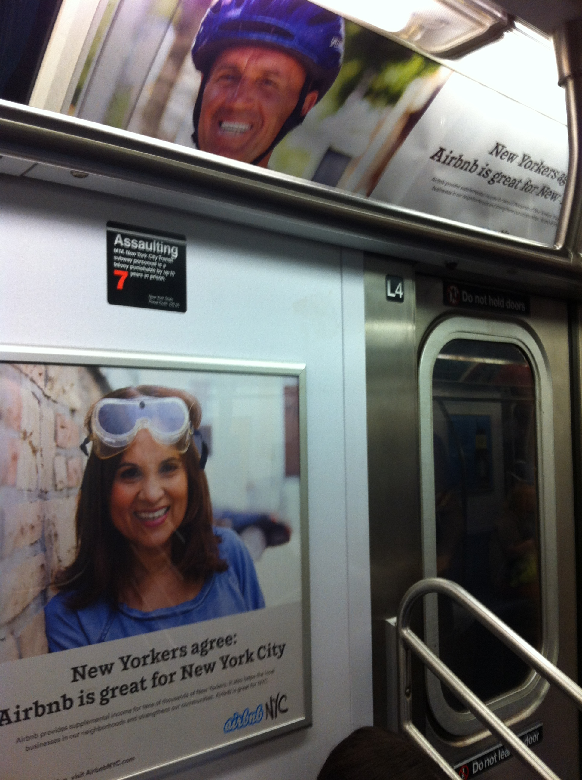 Airbnb subway ad