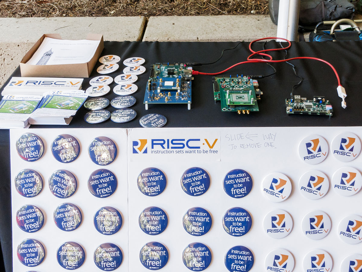 RISC-V swag and demo boards. Source: University of California, Berkeley