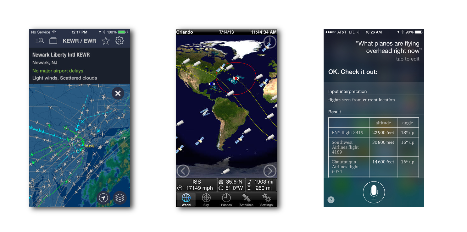 Planes and Satellites