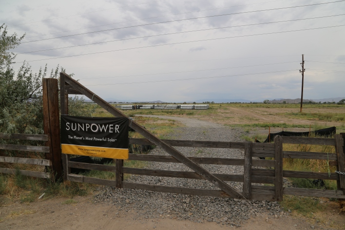Apple's solar farm outside of Reno is being built by developer SunPower. Image courtesy of Katie Fehrenbacher, Gigaom.