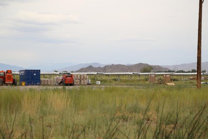 Apple's under construction solar farm outside of Reno, Nevada. Image courtesy of Katie Fehrenbacher, Gigaom.
