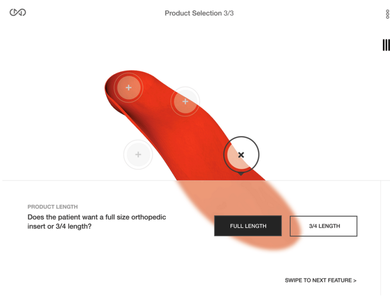 Sols 3D printed orthotic