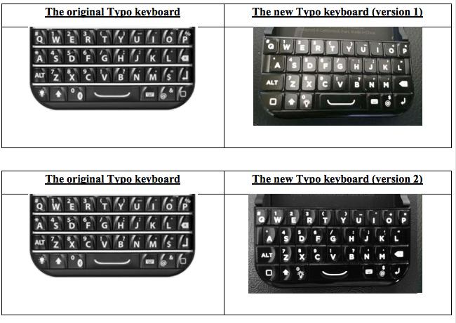 Typo vs blackberry