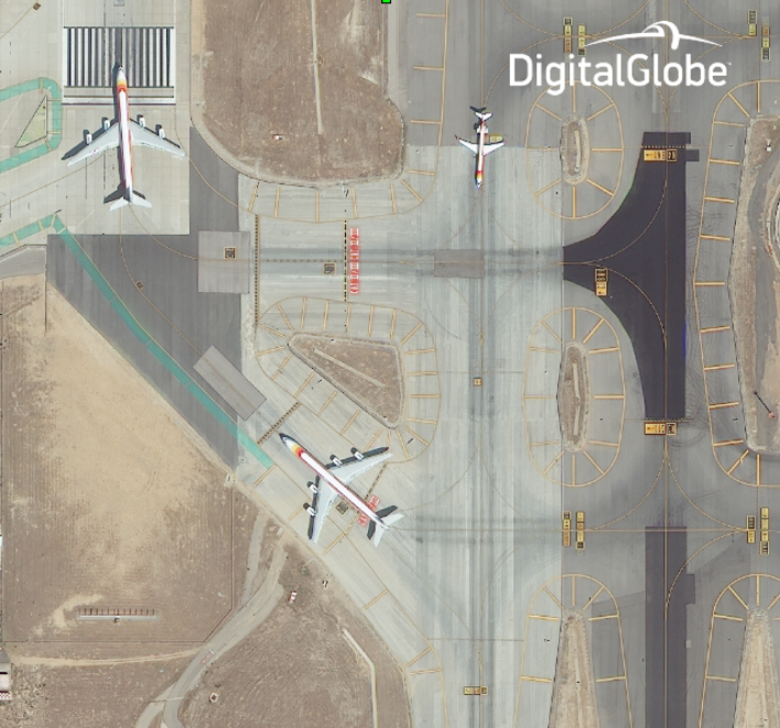 An airport in Madrid. Photo courtesy of DigitalGlobe.