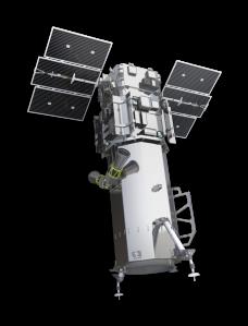 The WorldView-3 satellite. Photo courtesy of DigitalGlobe.